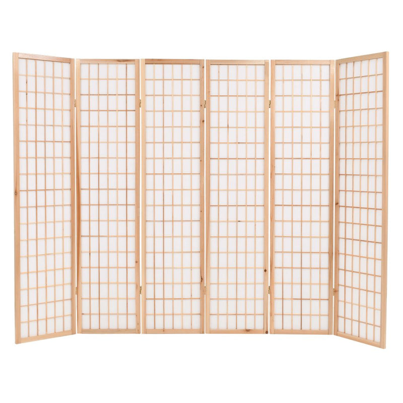 vidaXL Folding 6-Panel Room Divider Japanese Style 240x170 cm Natural - House of Isabella AU
