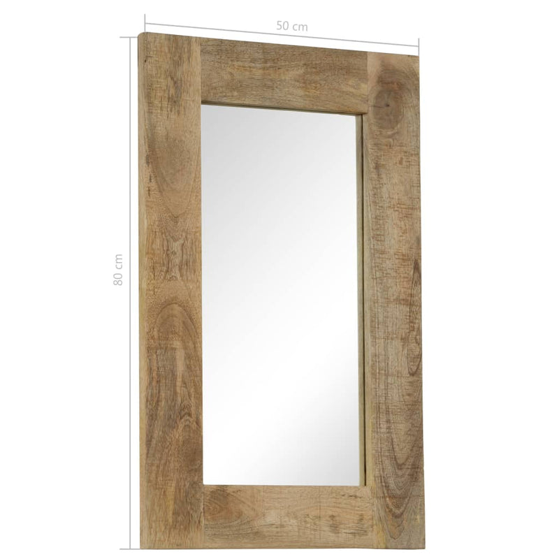 vidaXL Mirror Solid Mango Wood 50x80 cm - House of Isabella AU