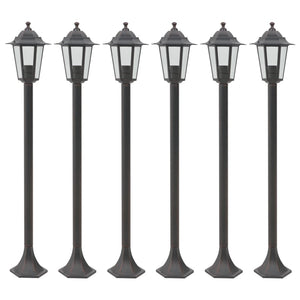 vidaXL Garden Post Lights 6 pcs E27 110 cm Aluminium Bronze