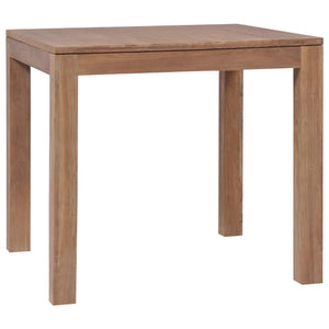 vidaXL Dining Table Solid Teak Wood with Natural Finish 82x80x76 cm