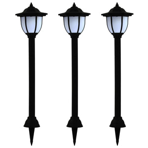 vidaXL Outdoor Solar Lamps 3 pcs LED Black