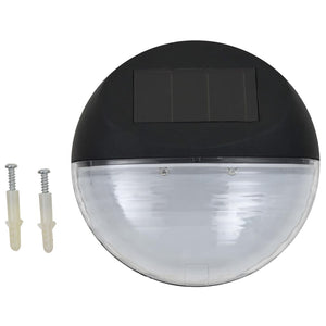 vidaXL Outdoor Solar Wall Lamps LED 12 pcs Round Black