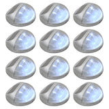 vidaXL Outdoor Solar Wall Lamps LED 12 pcs Round Silver - House of Isabella AU