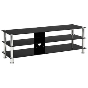 vidaXL TV Stand Black 120x40x40 cm Tempered Glass