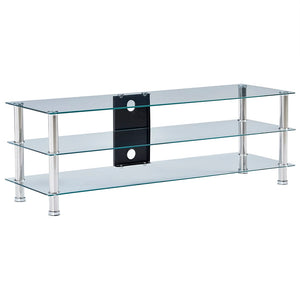 vidaXL TV Stand Transparent 120x40x40 cm Tempered Glass