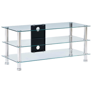 vidaXL TV Stand Transparent 90x40x40 cm Tempered Glass