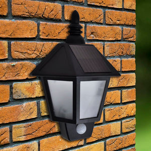 vidaXL Solar Wall Lamp with Motion Sensor 2 pcs