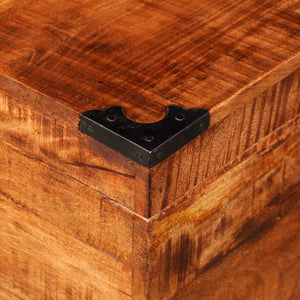 vidaXL Storage Chest Cubic Rough Mango Wood