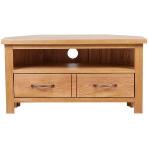 vidaXL TV Cabinet with Drawer 88 x 42 x 46 cm Solid Oak Wood