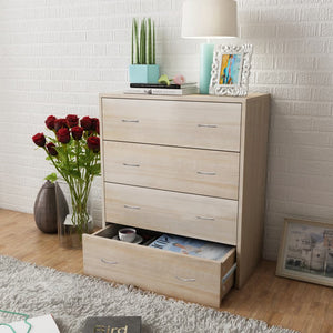 vidaXL Sideboard with 4 Drawers 60x30.5x71 cm Oak Colour