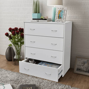 vidaXL Sideboard with 4 Drawers 60x30.5x71 cm White