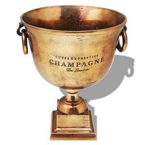 vidaXL Trophy Cup Champagne Cooler Copper Brown