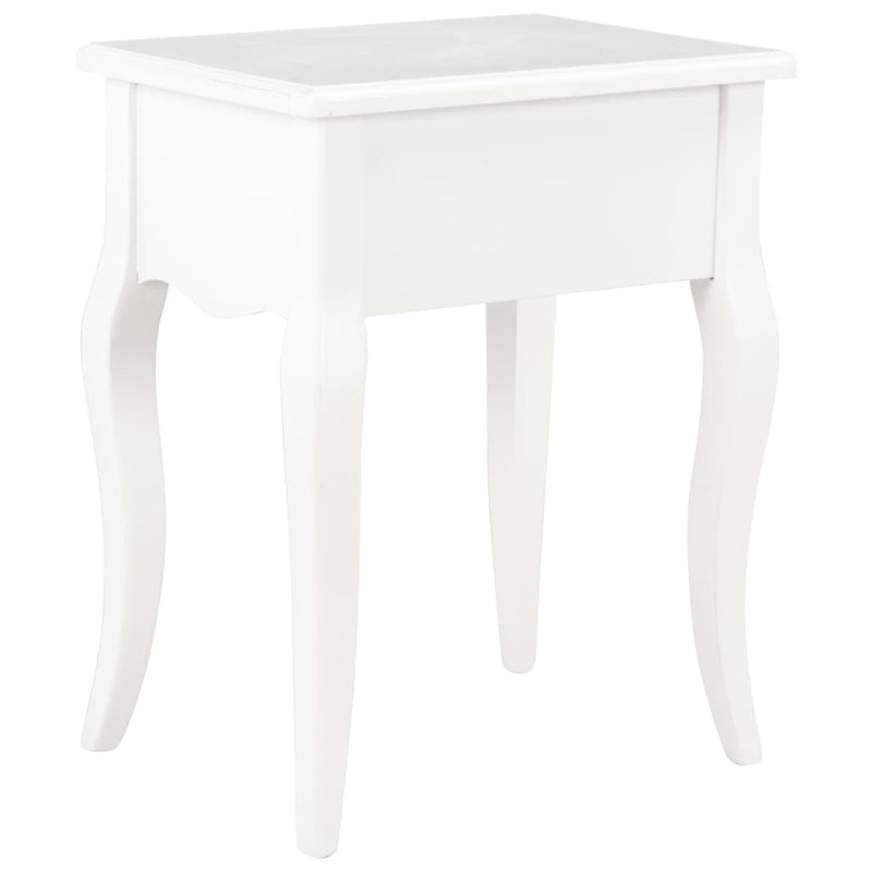 vidaXL Nightstand White 40x30x50 cm Solid Pine Wood - House of Isabella AU