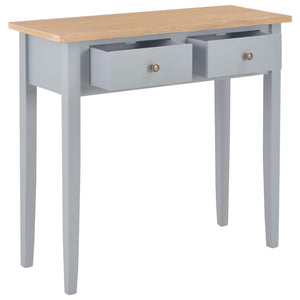 vidaXL Dressing Console Table Grey 79x30x74 cm Wood