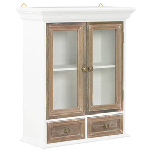 vidaXL Wall Cabinet White 49x22x59 cm Solid Wood