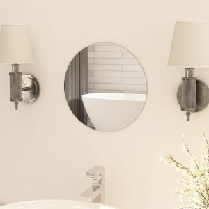 vidaXL Frameless Mirror Round 30 cm Glass