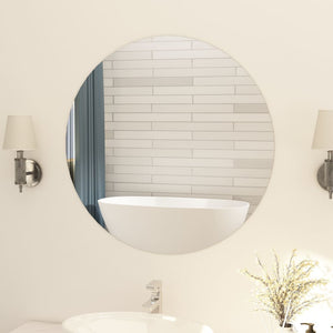vidaXL Frameless Mirror Round 80 cm Glass