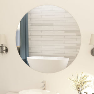 vidaXL Frameless Mirror Round 90 cm Glass