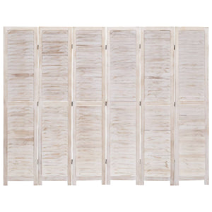 vidaXL 6-Panel Room Divider 210x165 cm Wood
