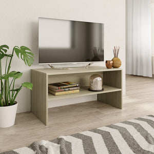 vidaXL TV Cabinet Sonoma Oak 80x40x40 cm Chipboard