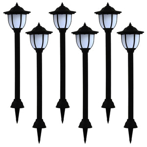 vidaXL Outdoor Solar Lamps 6 pcs LED Black