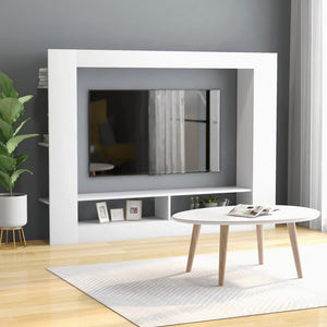 vidaXL TV Cabinet White 152x22x113 cm Chipboard
