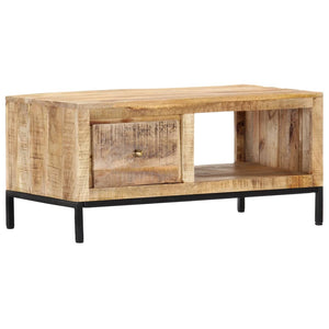 vidaXL Coffee Table 88x50x42 cm Solid Mango Wood