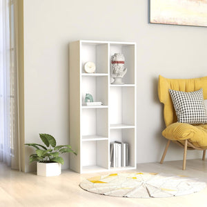 vidaXL Book Cabinet White 50x25x106 cm Chipboard