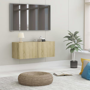 vidaXL TV Cabinet Sonoma Oak 80x30x30 cm Chipboard