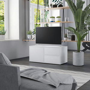 vidaXL TV Cabinet White 80x34x36 cm Chipboard