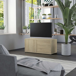 vidaXL TV Cabinet Sonoma Oak 80x34x36 cm Chipboard