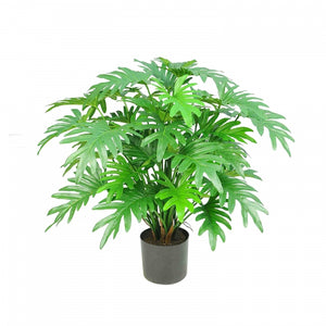 Artificial Split Philo potted Bush 50 Lvs 75cm