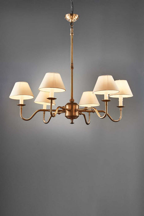 Prescot 6 Arm Chandelier Base Ant.Bras - House of Isabella AU