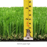 Primeturf Synthetic 40mm  1.9mx5m 9.5sqm Artificial Grass Fake Turf 4-coloured Plants Plastic Lawn