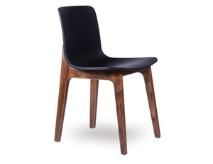Ara Chair - Walnut - Black Shell