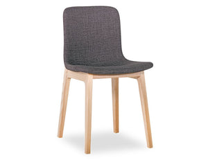 Ara Chair - Natural - Charcoal Fabric