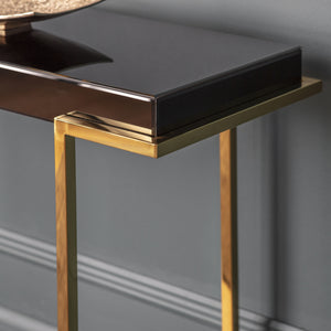 Duisburg Black Mirrored Console