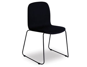 Flip Chair - Black Sled - Black Fabric