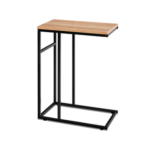 Artiss Coffee Side Table Laptop Desk Bedside Sofa End Tables Wooden Metal Frame