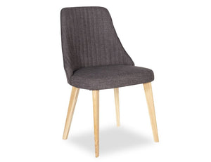 Lisboa Chair - Natural - Charcoal Fabirc