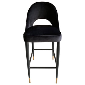 Bourdain Bar Chair Black Velvet