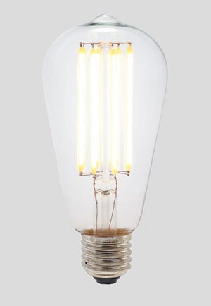ST64 Long LED Filament - Clear Glass - 8W E27 3000k