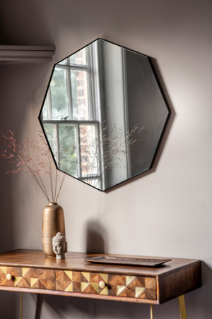 Braga Octagon Mirror Black