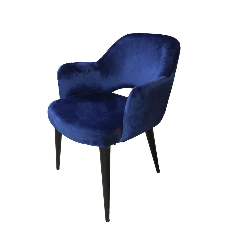 Terrazo Dining Chair Navy Velvet (Set of Two) - House of Isabella AU