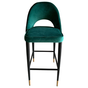 Bourdain Bar Chair Green Velvet