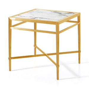 Georgian Side Table Marble Gold
