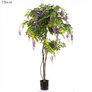 Artificial Wisteria Tree 1.9m Purple