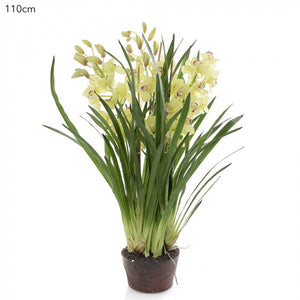 Artificial Cymbidium Giant Paper Pot 110cm Lt.Gre