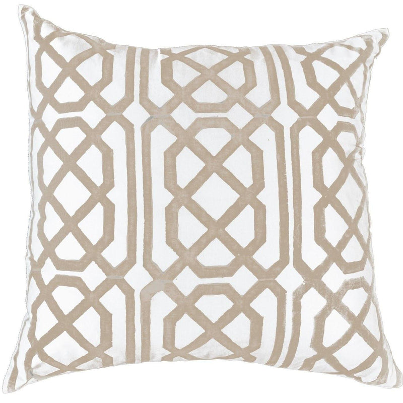 Jagger Print Beige Lounge Cushion 55 x 55 cm - House of Isabella AU