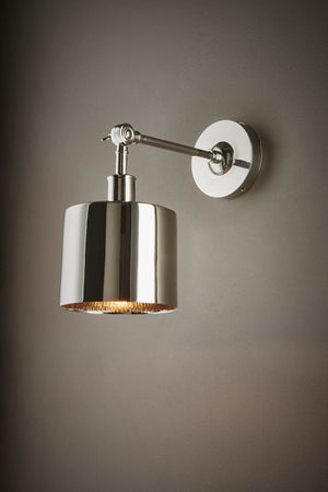 Portofino Wall Lamp in Shiny Nickel
